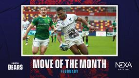 Siva Naulago wins Nexa Bristol Move of the Month for February