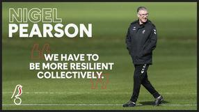 Pearson wants to see squad resilience