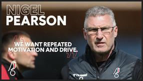 Pearson wanting repeat of motivation and drive