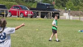 Nathan Hughes visits Community Foundation summer holiday camp