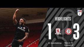 HIGHLIGHTS | Wells and Paterson give City the win! | Middlesbrough 1-3 Bristol City