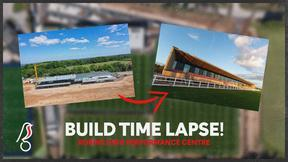 How the Robins High Performance Centre was built!   Full time lapse