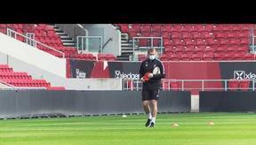 Training match at Ashton Gate! 🎥 Behind-the-scenes
