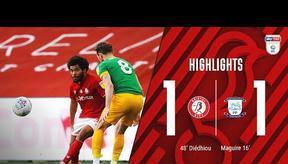 HIGHLIGHTS   Famara Diédhiou gets his 14th goal of the season   Bristol City 1-1 Preston North End