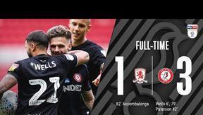 GOALS   Middlesbrough 1-3 Bristol City