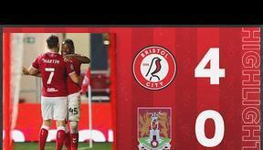 HIGHLIGHTS   Robins on fire at Ashton Gate! Bristol City 4-0  Northampton Town